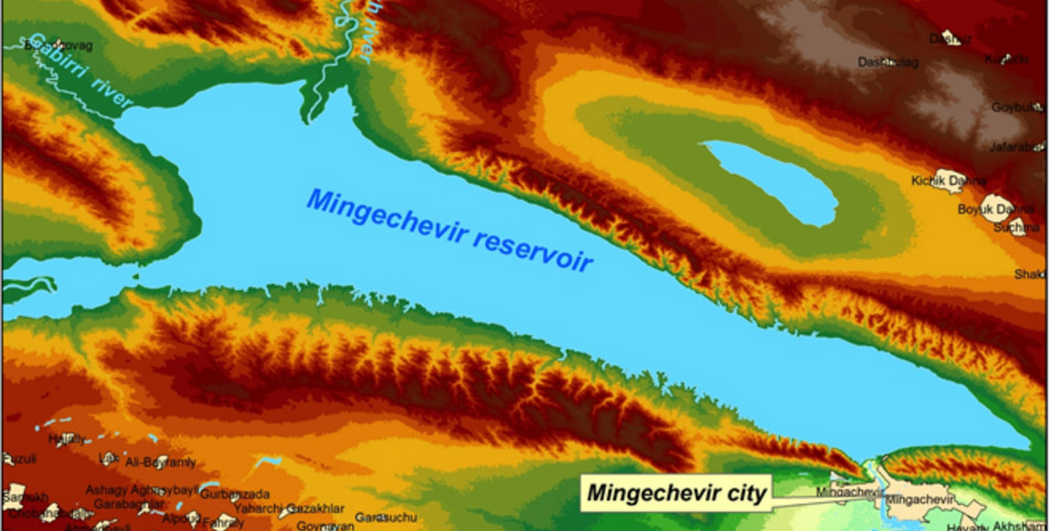 : Location of the Mingechaur reservoir